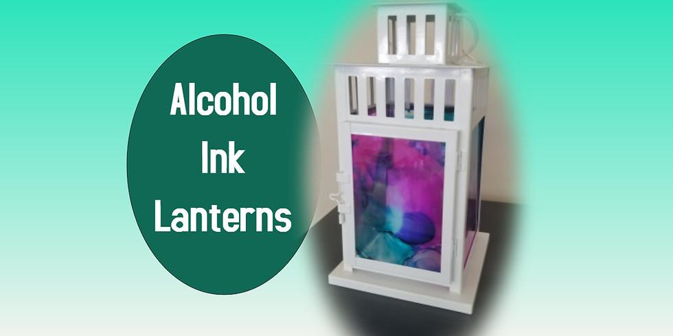 Alcohol Ink Lanterns 8/13