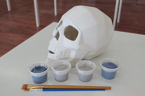 Faceted Skull Pottery to Go Kit