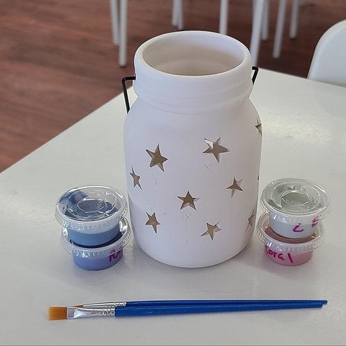 Mason Jar Lantern Med Pottery to Go Kit
