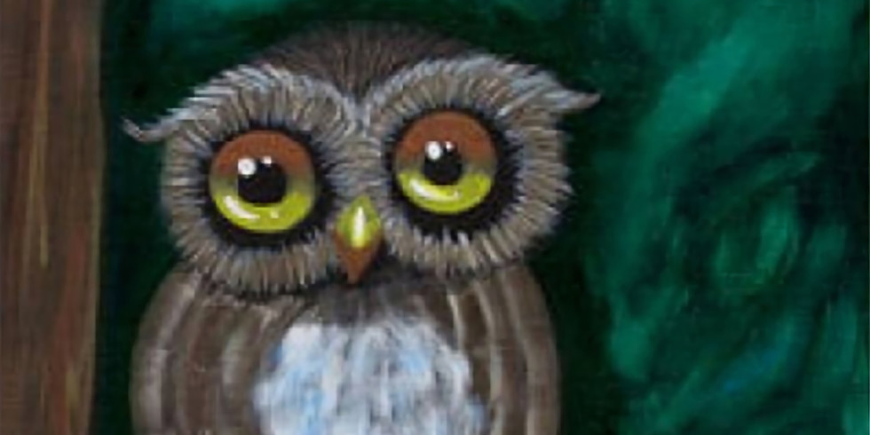 """Canvas Painting """"Owl Be Watching"""""""