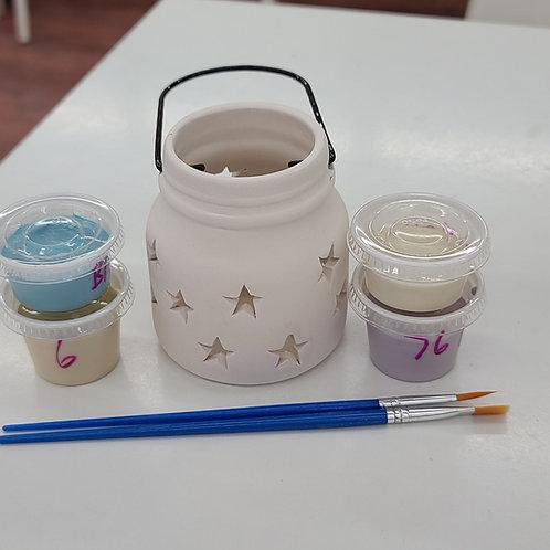Small Mason Jar Lantern Pottery to Go Kit
