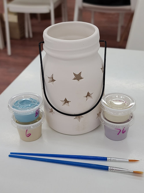 Med Mason Jar Lantern Pottery to Go Kit