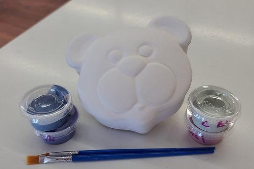 Bear Face Box Pottery to Go Kit