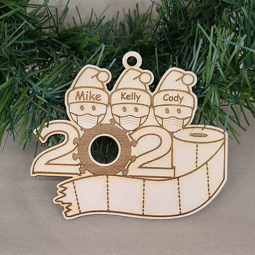 Personalized Laser Cut 2020 Elf Ornament