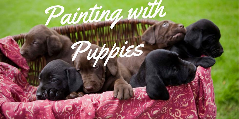 Painting w/ Puppies!!!