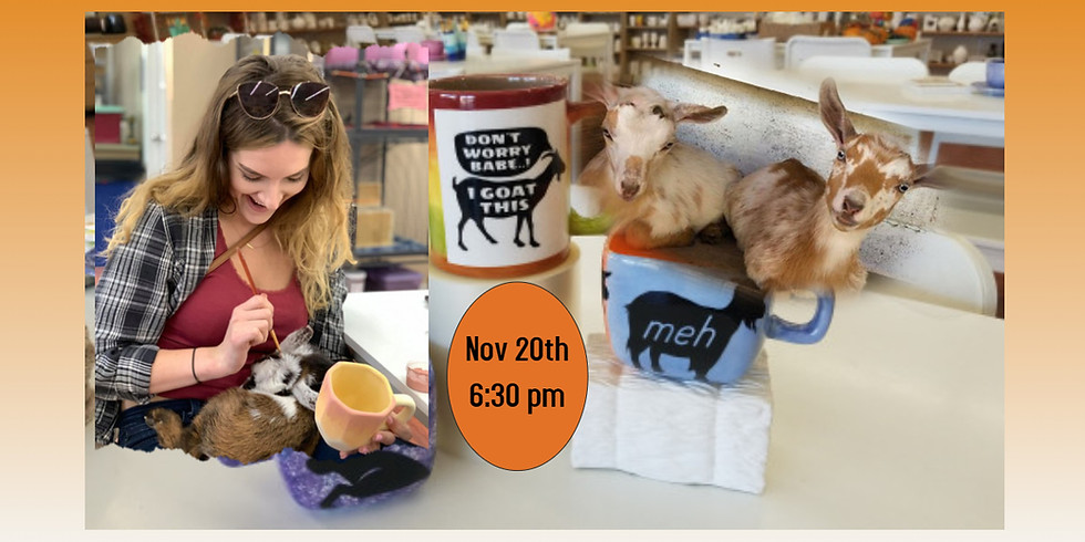 Pottery Painting with Goats 11/20