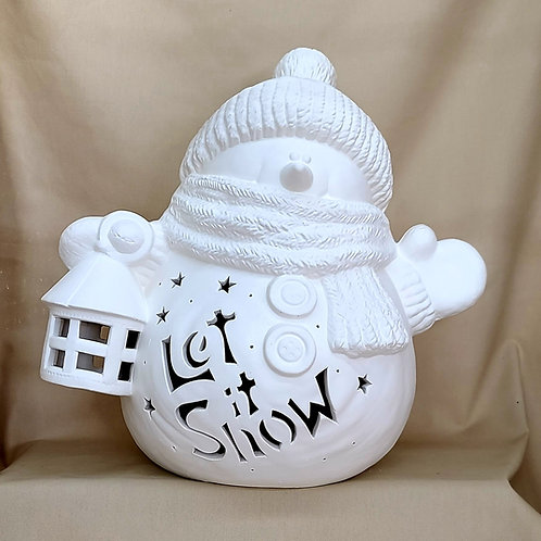 Personalized Light-up Snowman w/Lantern