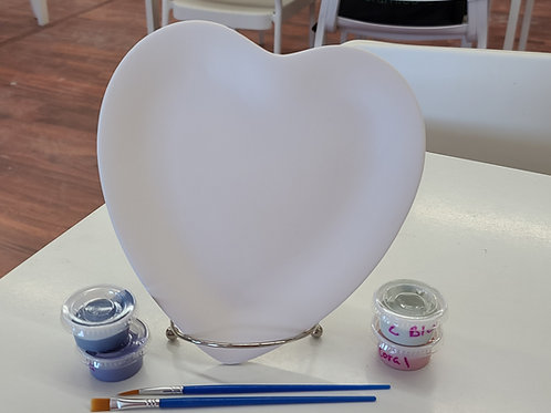 Heart Plate Pottery to Go Kit