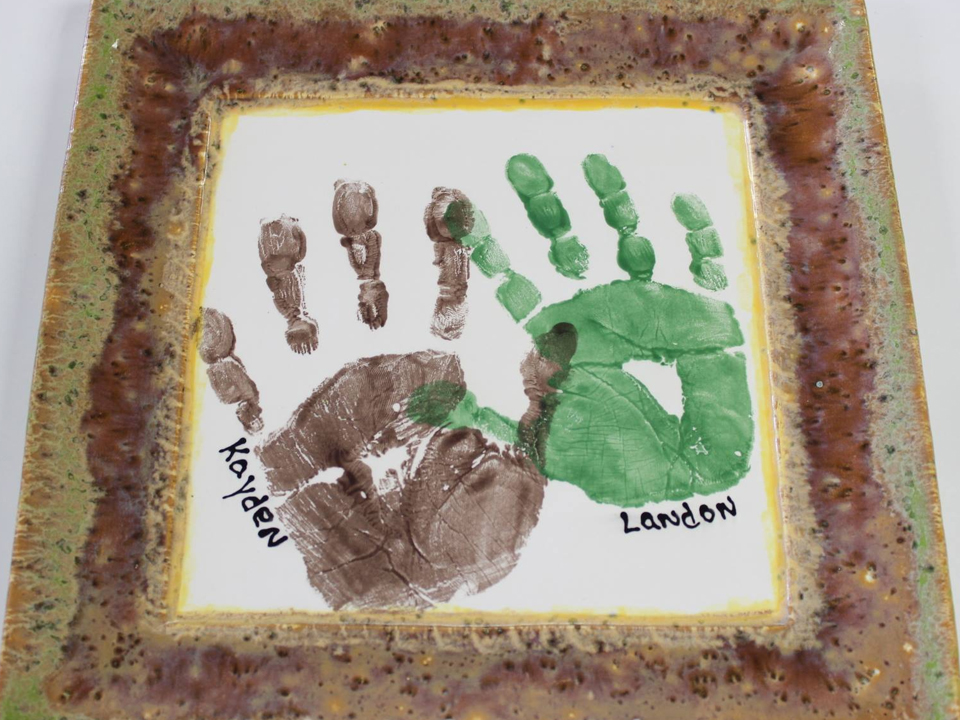 Pottery Painting Handprints