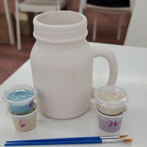 Mason Jar Mug Pottery to Go Kit