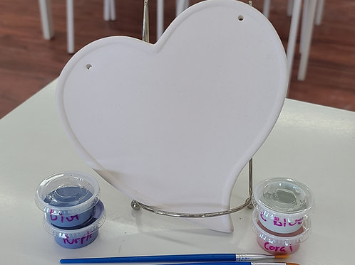 Heart Plaque Pottery to Go Kit