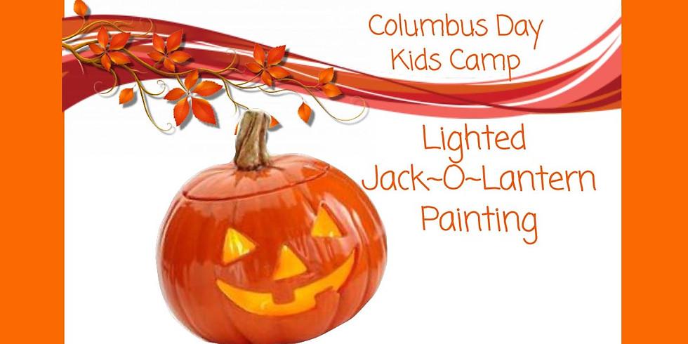 "Kids Camp ""Lighted Jack~O~Lantern Painting"""