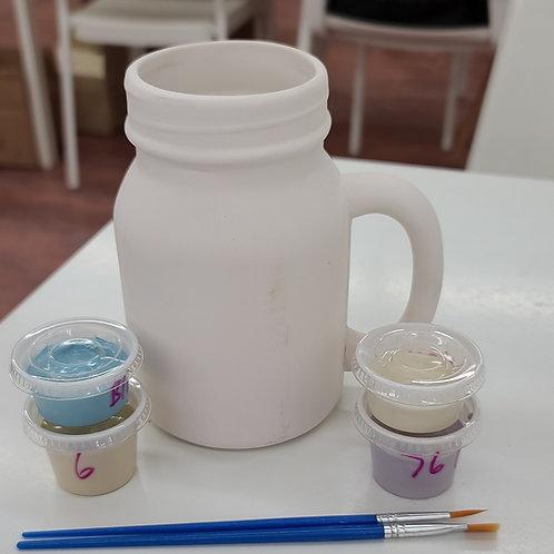 Mason Jar Mug Pottery to Go Kit