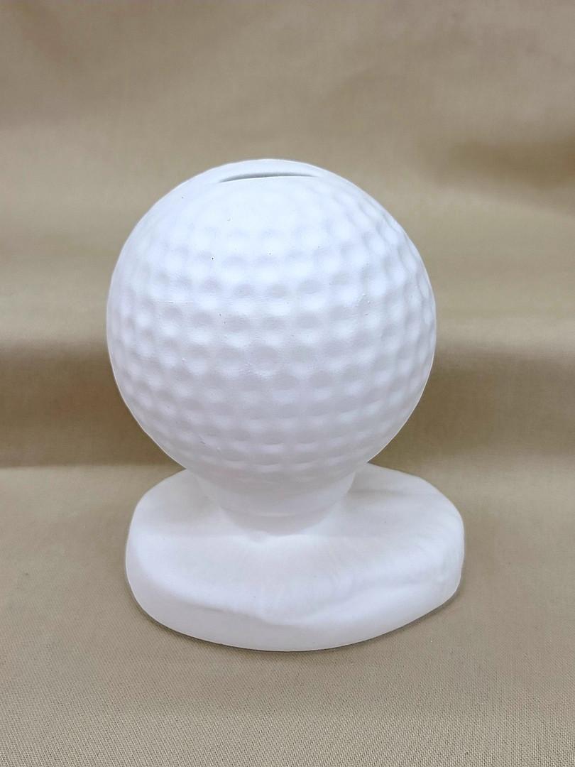 00778 Golf Ball on Tee Bank