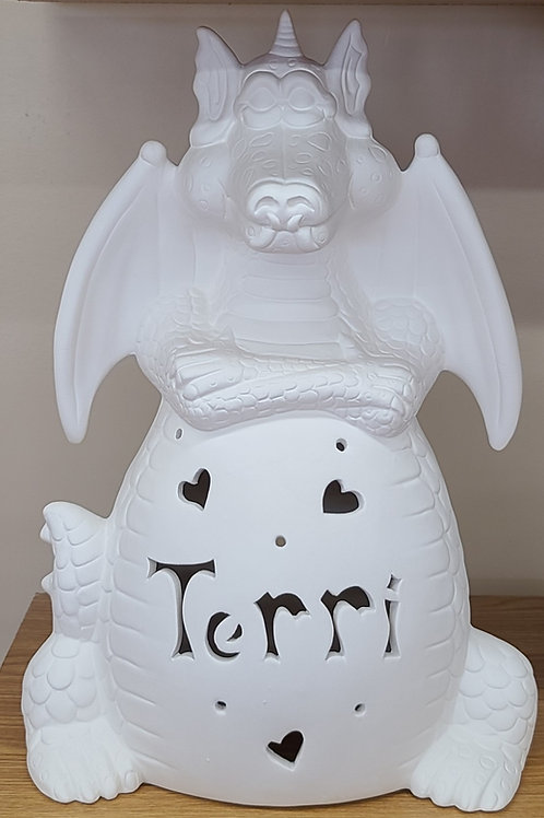 Personalized Light-up Ceramic Dragon