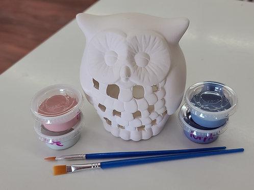 Owl Lantern Pottery to Go Kit