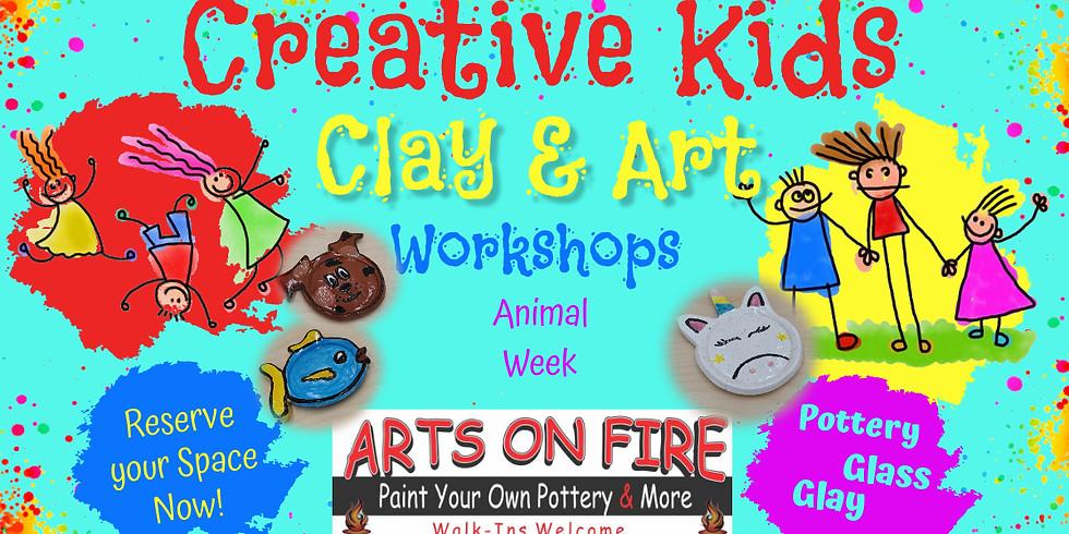 Kids Art Camp Wild Animal Week