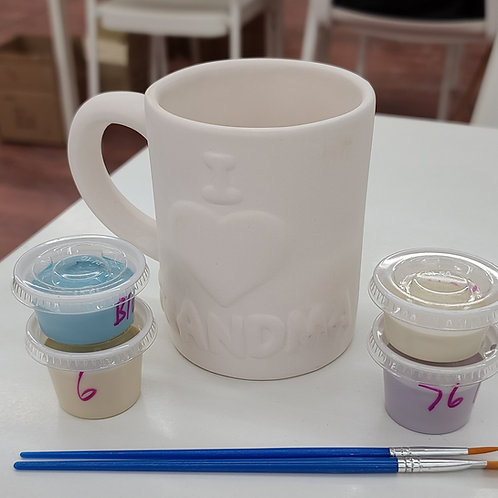 I love Grandma Mug Pottery to Go Kit