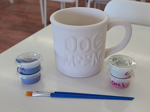 Dog Mom Mug Pottery to Go Kit