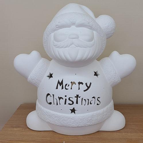 Personalized Light-up Ceramic Large Santa