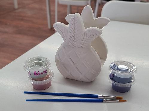 Pineapple Napkin Holder Pottery to Go Kit