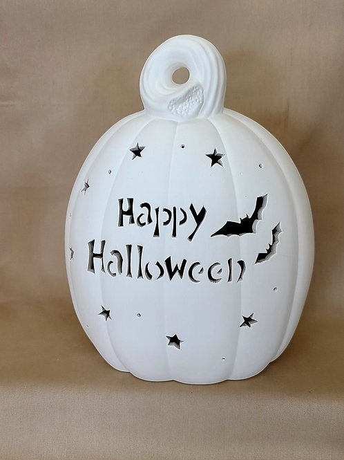 SM Personalized Light-up Oval Pumpkin