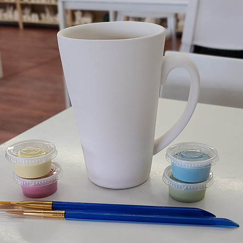 Latte Mug Pottery to Go Kit