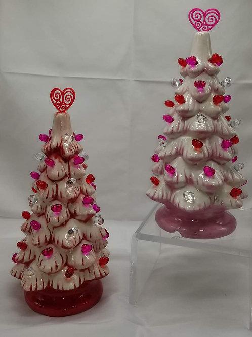 "Pre-order for Valentine 11"" Ceramic Lighted Tree Pottery to Go Kit"