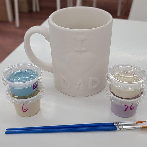 I love Dad Mug Pottery to Go Kit