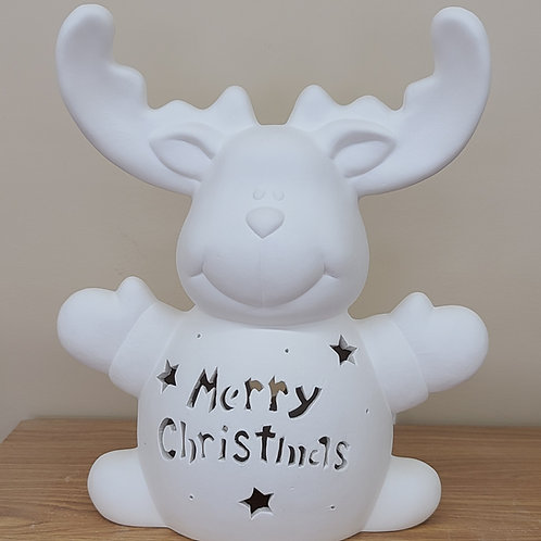 Personalized Light-up Ceramic Reindeer
