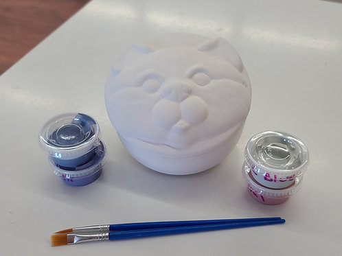 Cat Face Box Pottery to Go Kit
