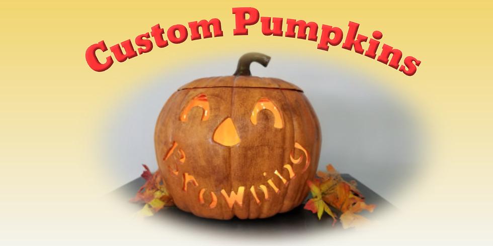 Custom Lighted Pumpkin