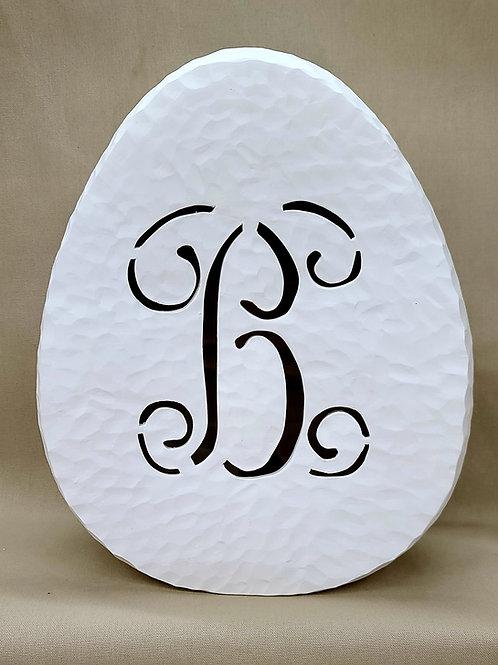MD Vine Font Monogram Light-up Egg 1/cs