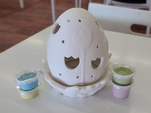 Lighted Tulip Egg Pottery to Go Kit