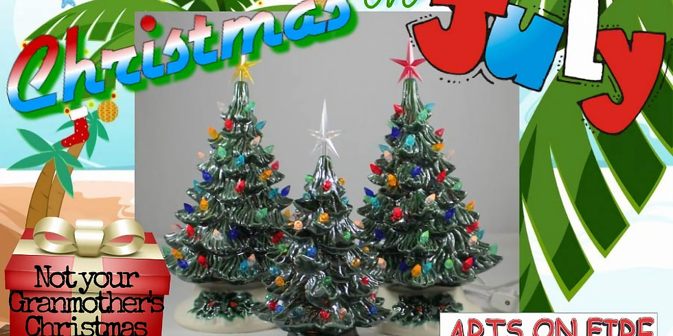Christmas in July Ceramic Tree Painting