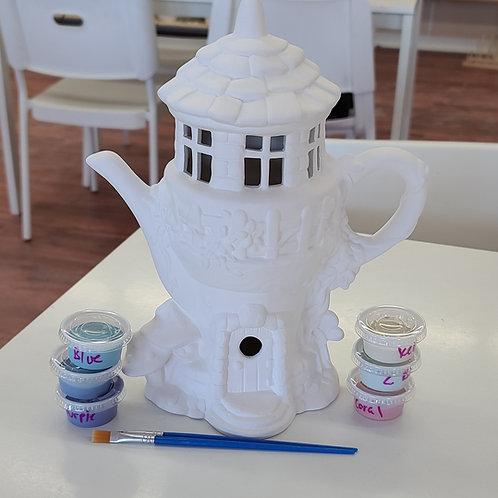Teapot Fairy House (2023)Pottery to Go Kit
