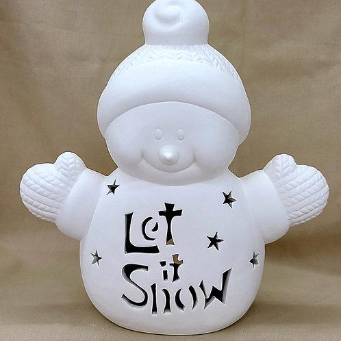 SM Personalized Light-up Fleece Snowman