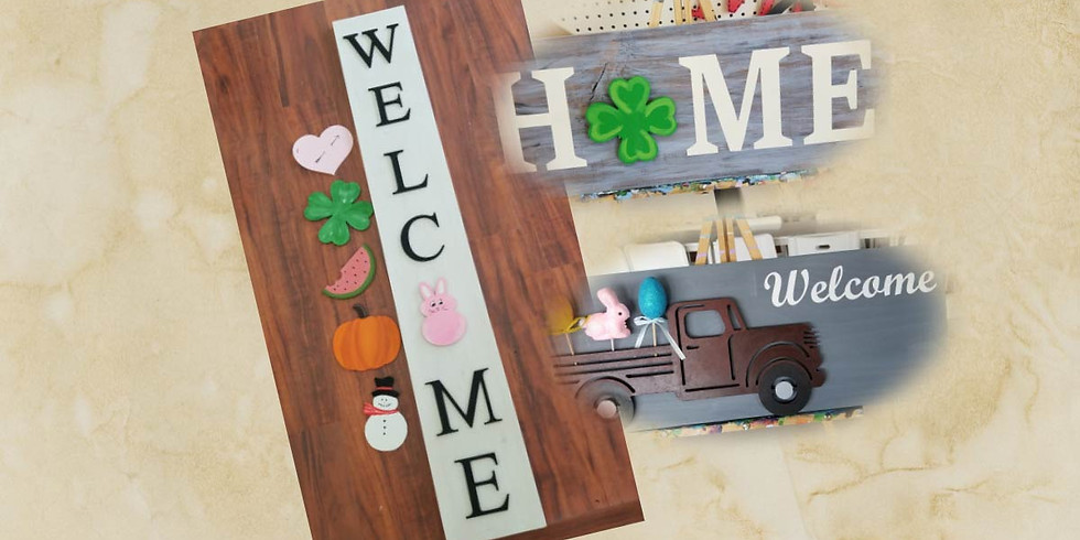 All Seasons Welcome, Home or Truck Sign
