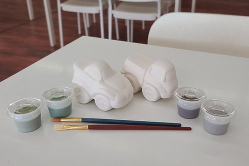 Car and Truck Cutie Pottery to Go Kit