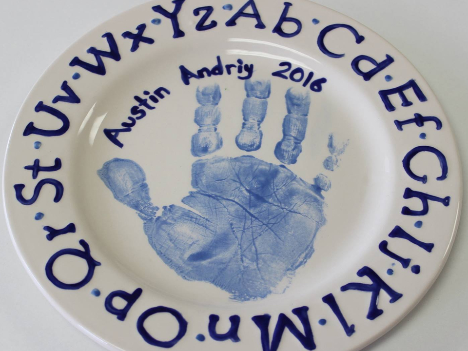 Pottery Painted Hand Print