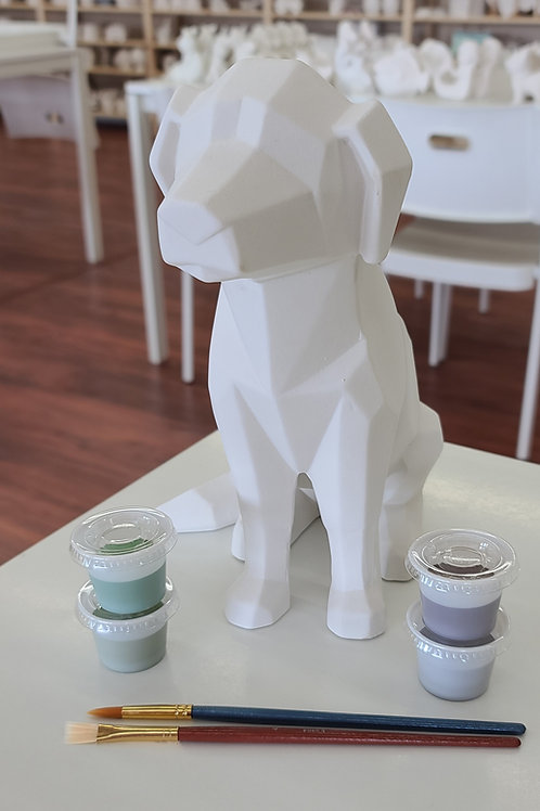 Faceted Dog Pottery to Go Kit