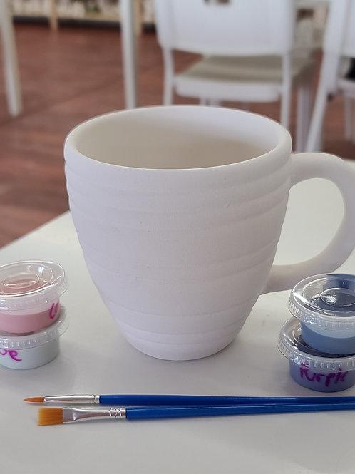 Pinstripe Mug Pottery to Go Kit