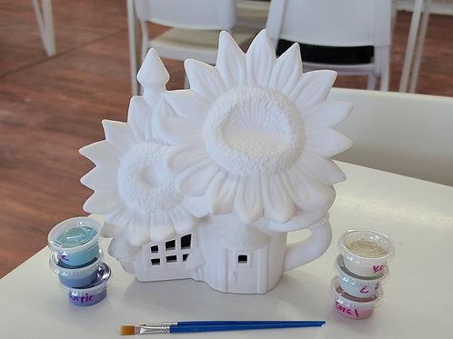 Sunflower Fairy House (1803)Pottery to Go Kit