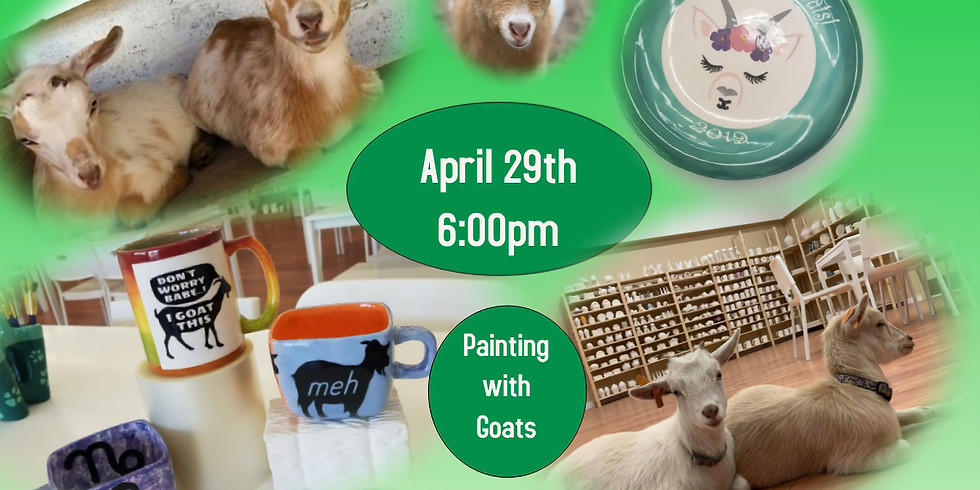 Pottery Painting with Goats 4/29