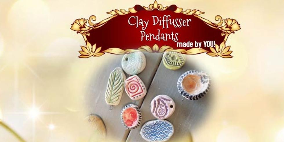 Clay Difusser Pendants