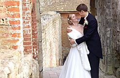 Mark and Jenny at Farnham Castle for their wedding