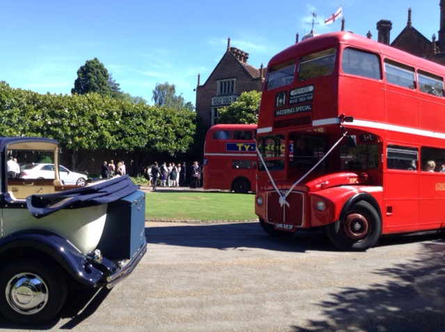 Wedding Cars with London Buses