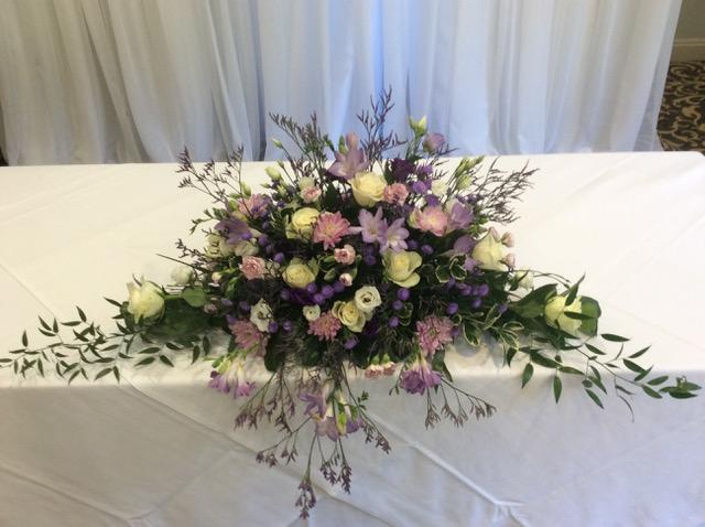 wedding flower display frimley hall hotel
