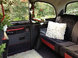 Inside the London Taxi | Car hire for weddings, Surrey, Berkshire, Hampshire and West London