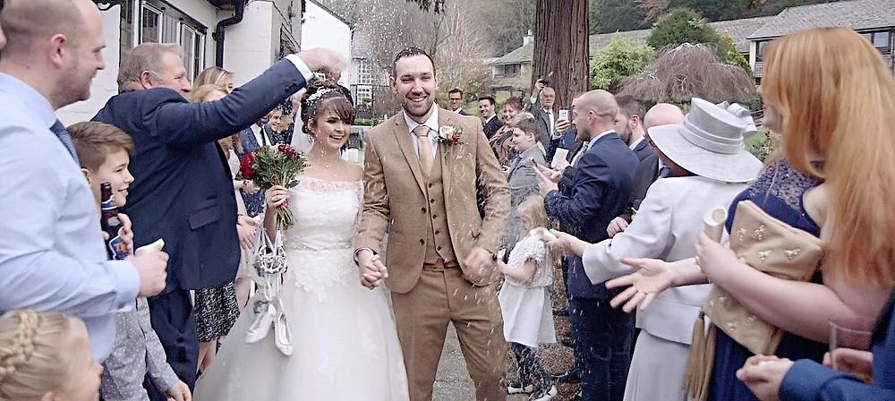 Burford Bridge Hotel Wedding Videographer